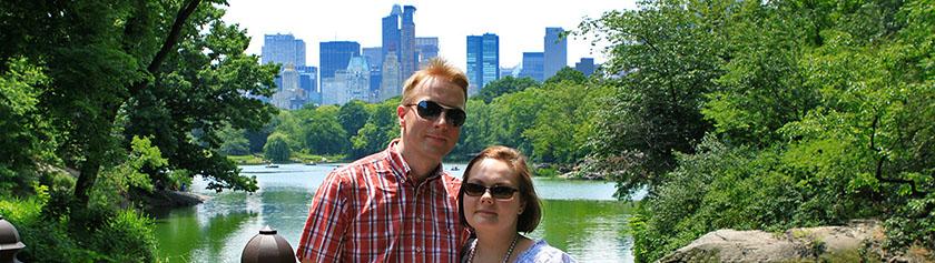 Syntymäpäiväretki Central Parkissa