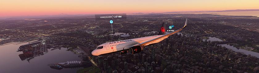 Elämyslentoja Microsoft Flight Simulatorissa