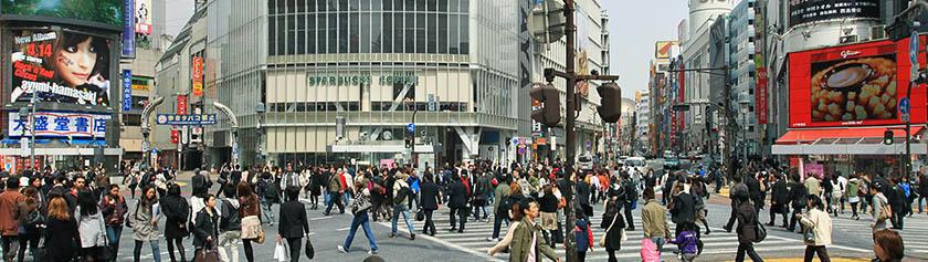 Ihmisvilinää ja rakkaushotelleja Shibuyassa