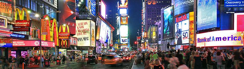 New Yorkin kirkkaat valot