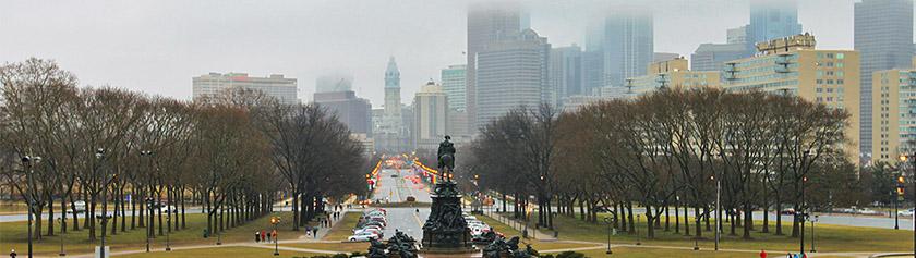 Sateinen Philadelphia