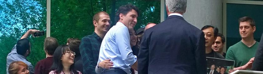 Selfie-pääministeri vierailulla