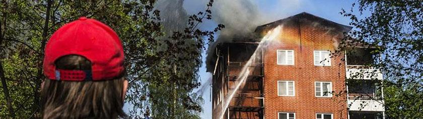 Tuli tuhosi entisen kotimme