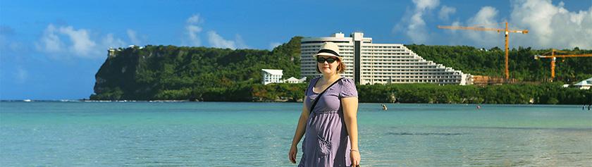Trooppinen jouluaatto Guamissa