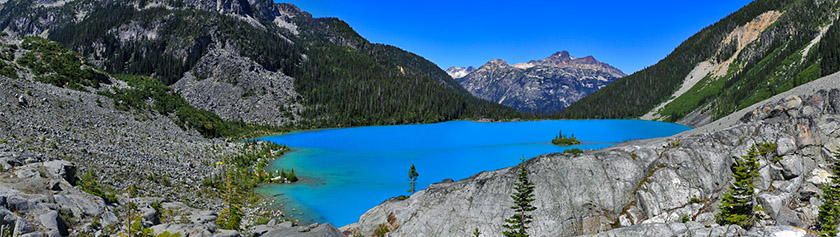 Kuvankaunis Joffre Lakes