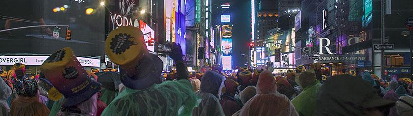 Uusivuosi Times Squarella